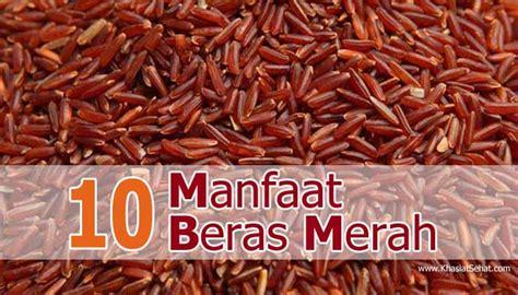 beras merah beras sehat 10 manfaat beras merah untuk kesehatan khasiat sehat