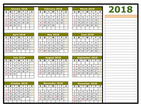excel 2018 yearly calendar 2018 calendar excel template one page monthly yearly