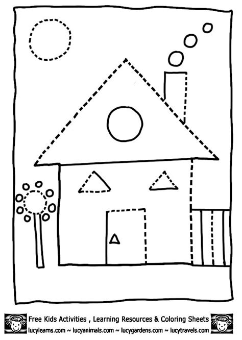 house shape coloring pages dot to dots 8 gif 603 215 848 407 | df3124e8a7afcd6a7fcf1e93f3284f7a