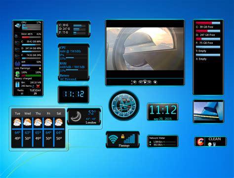 gadgets bureau windows 7 blue gadgets set windows 7 desktop gadget