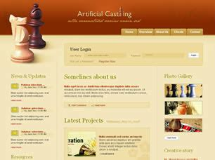 casting text template get artificial casting multipurpose html template