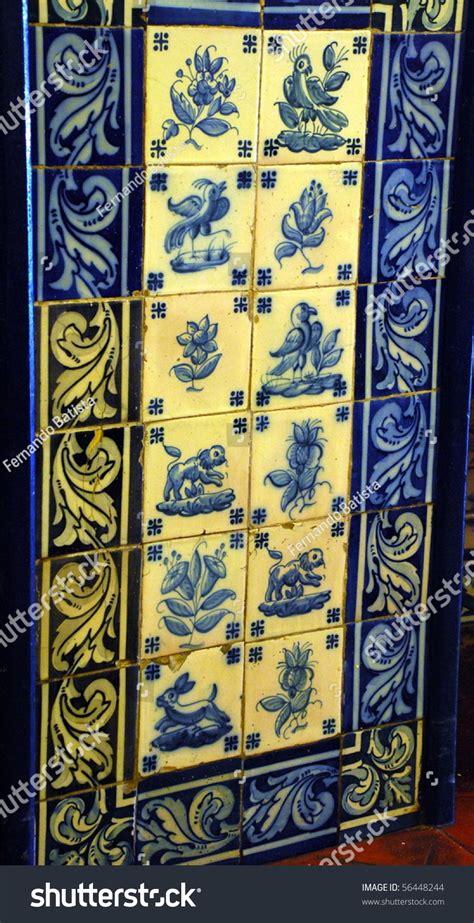 portuguese blue and white decorative tiles also