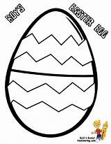 Easter Egg Coloring Pages Eggs Printables Fancy Yescoloring Basket sketch template