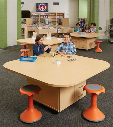 mobile furniture flexibility add up for a school