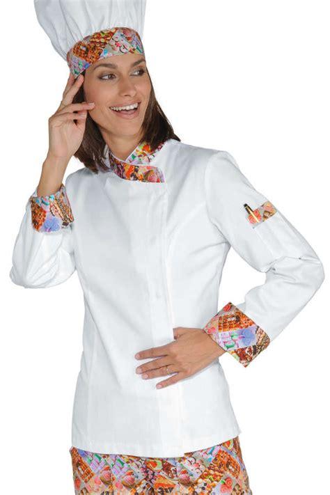 femme chef de cuisine veste chef femme snaps blanc delicious 100 coton
