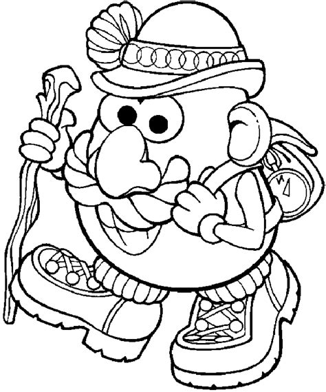 potato head coloring pages    print