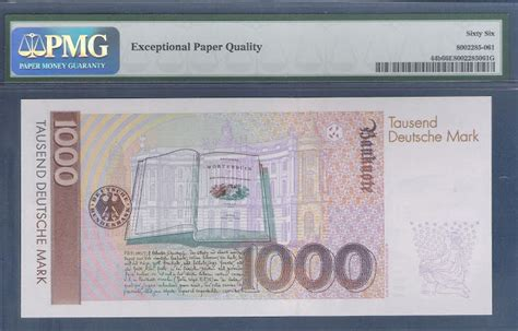 german currency 1000 dm deutsche banknote 1993