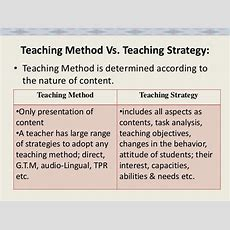 What Is The Difference Between A Method And Strategy In Teaching?