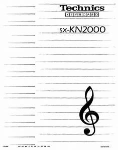 Technics Sx-kn2000 User Manual