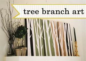 Crafted love diy tree branch art wall decor