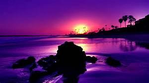 Purple Beach Sunset wallpaper | 1920x1080 | #15515