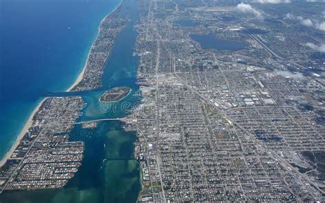 lake worth inlet aerial island peanut florida beach palm county