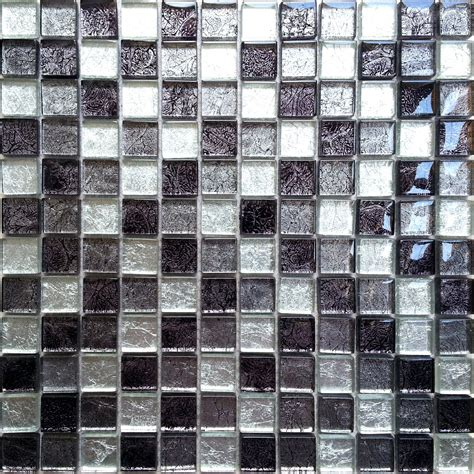 Glass Mosaic Bathroom Tiles by Black And Silver Glass Randomly Mixed Bathroom Kitchen
