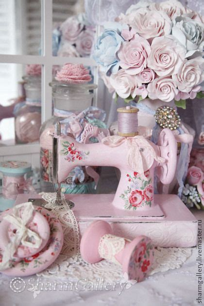 shabby chic sewing shabby chic spools n sewing machines pinterest