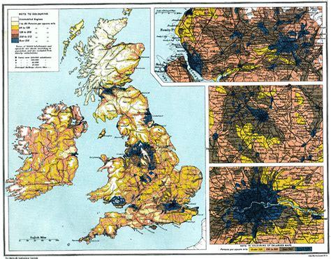 British Isles  Density Of Population