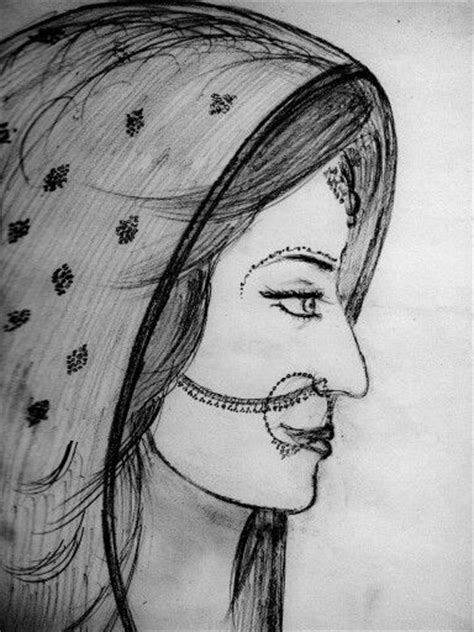 indian bride sketch sketches drawing sketches drawings