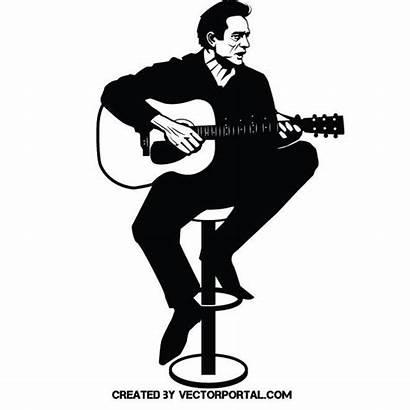 Johnny Cash Vector Vectorportal Portrait Illustrations Illustration