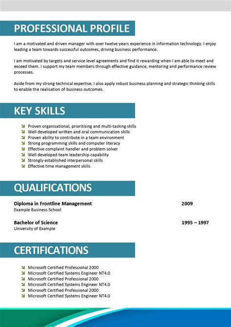exles of resumes best resume top 10 templates