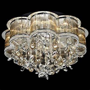 Decorative light ceiling crystal chandelier in amber