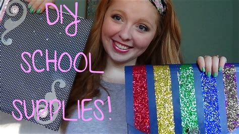back to school glam up your school supplies youtube