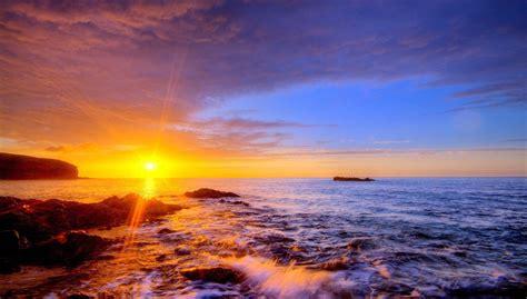 Ocean Sunset Photos Desktop Wallpapers Morewallpaperscom