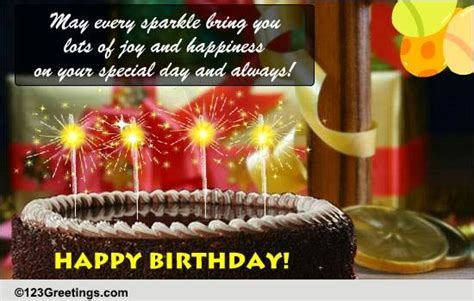 A Sparkling Birthday Greeting! Free Happy Birthday eCards