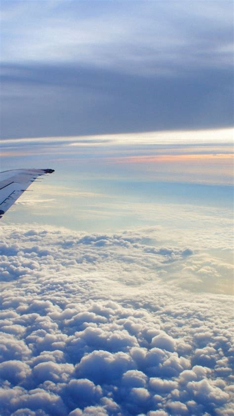 Wallpaper Backgrounds Iphone by Wallpaper Iphone Clouds Airplane Wing Flying Iphone