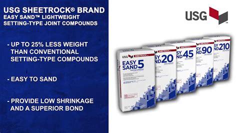 The Benefits Of Usg Sheetrock® Brand Easy Sand
