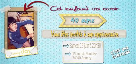 Carte Invitation Anniversaire 40 Ans Virtuelle Gratuite