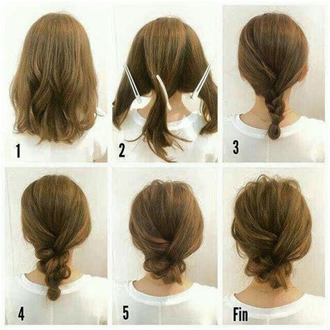updo  short hair hairspiration hair tutorials