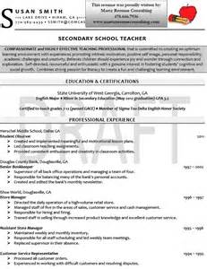 Resume Exles Secondary by Resume Sales Lewesmr