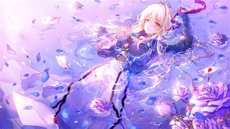 Anime Purple Wallpaper - violet evergarden tv fanart fanart tv