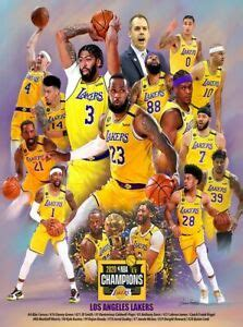 Lakers 2020 NBA Champions by Wishum Gregory, Art Print ...