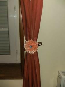 Attache Rideau Pince : lot de 2 embrasses attaches rideaux fleur kanzashi accessoires de maison par vosrevesbrodes ~ Melissatoandfro.com Idées de Décoration