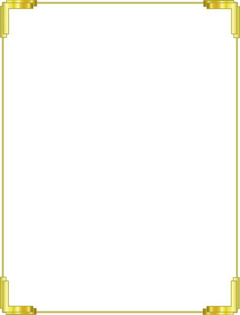 gold border png frame