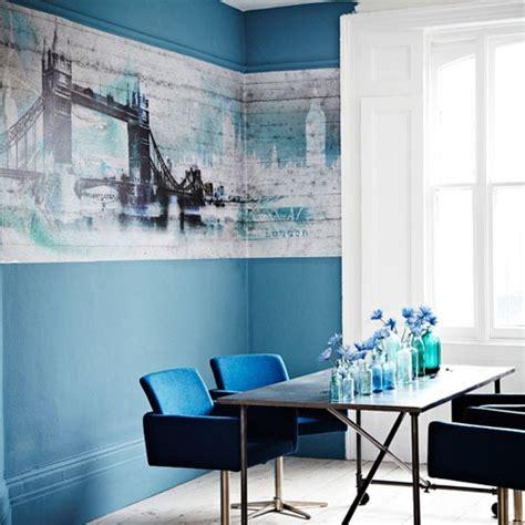 comedores decorados en azul interiores