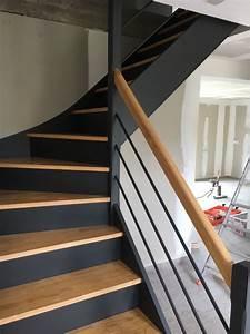 Repeindre Escalier En Bois : photo escalier peint ~ Dailycaller-alerts.com Idées de Décoration