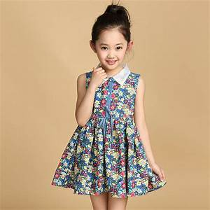 Retail Girls' Floral Print Dress Summer Kids Girl Cotton ...