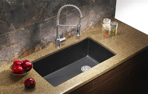 black granite kitchen sink ecosus granite composite kitchen sink single bowl