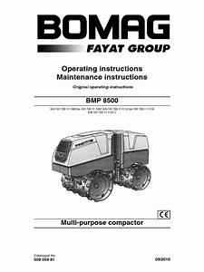 Bomag Roller Bmp 8500 Brugervejledning