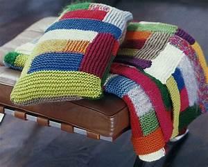 Decke Stricken Patchwork : reste stricken wir feiern ein restefest patchworkdecke ~ Watch28wear.com Haus und Dekorationen
