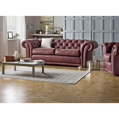 chestnut leather sofa churchill 3 seater sofa in antique chestnut from sofas 2156