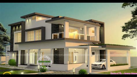 modern house designs and floor plans modern flat roof two storey home