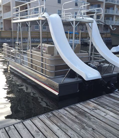 Pontoon Boats With Slides by Boat Rentals Orange Al