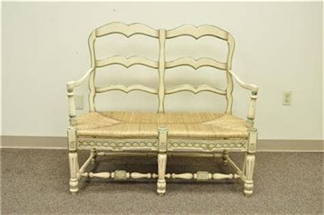 country settee bench vintage country seat chic ladder back settee