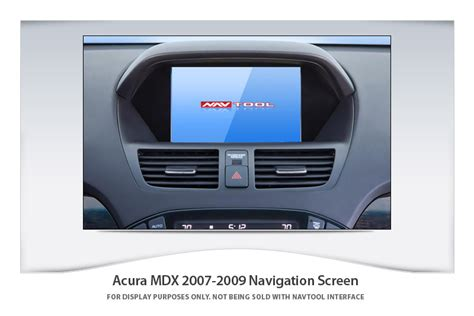 acura mdx   navigation video interface  built