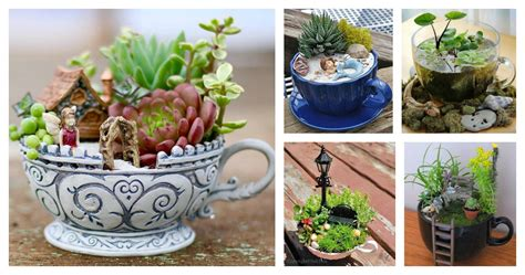cute teacup mini gardens ideas