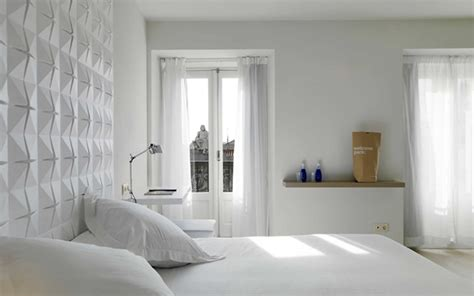 background bedroom minimalist white bedroom decoration featuring decorative bed wall background and pyramid pattern