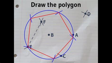 constructing  regular pentagon   ruler  compass    circle youtube