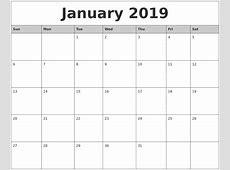 January 2019 Calendar Australia Free Calendar Template